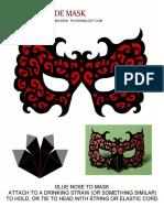 Masquerade Mask Red