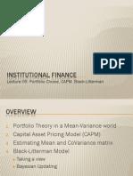 06 Portfolio Theory CAPM 2008