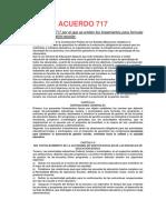 Acuerdo 717 Resumen