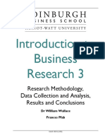 Introduction to Business Research 3a