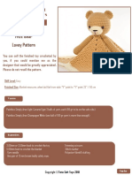FREE Bear Lovey Pattern 2018