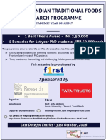 Indian Foods Research Programme Poster 2016 - 17