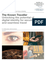 WEF the Known Traveller Digital Identity Concept