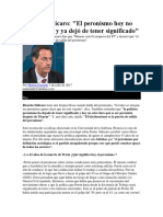 Ricardo Sidicaro El Peronismo Ya No Está Vigente