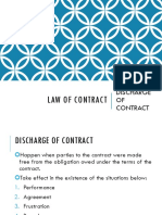 Topic 6 - Discharge of Contract