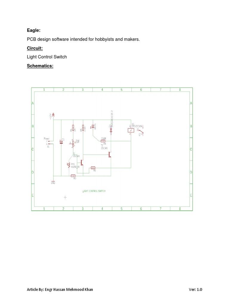 Eagle - Light Control Switch v1.0