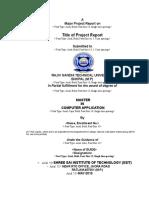 MCA Major Project Format Final1