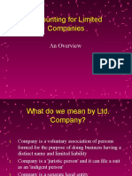 Accounting for Limited Companies & Shares 11-12