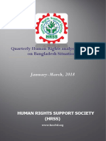Quarterly Human Rights Situation Analysis Report on Bangladesh, Jan-Mar'18