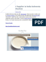 Talc Powder Supplier in India Indonesia Pratibha Refractory