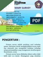 Materi Primary Survey Keperawatan - Annis Chumairoh - Keperawatan - STIKES PKU Muhammadiyah Surakarta
