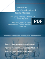 Aerosol 101 Formulation Considerations Allen Price