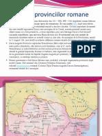 Formarea Provinciilor Romane