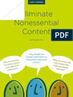 Eliminate Nonessential Content