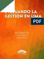 Reporte Cultura Deporte 2013