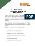Programa Seminario Entrenamiento Funcional