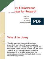 Library Databases-Dr B Ravi