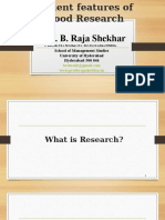 Salient Features of Good Research