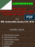 Materi Kuliah Perdana Kimia Lingkungan