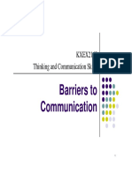 Notes- Barriers to Communication