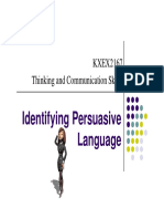 Notes- Identifying Persuasive Language