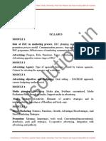 Integrated Marketing Communication [14mbamm408] Notes