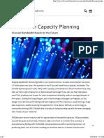 Bandwidth Capacity Planning – XKL