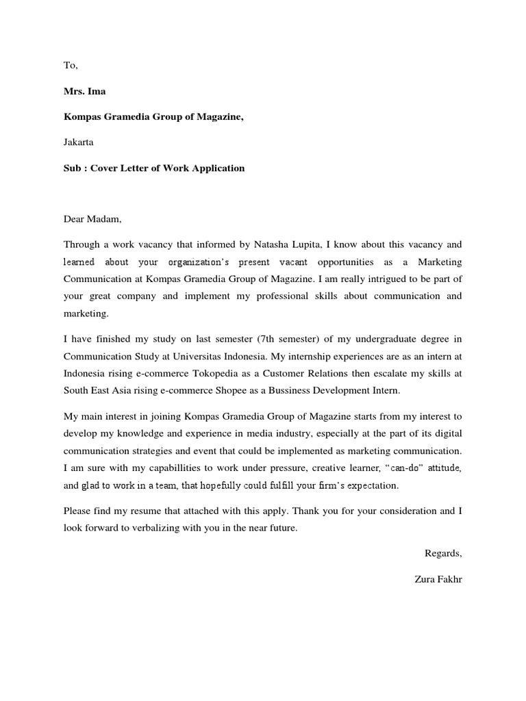 Cover Letter Salwa for MarkPlus,Inc