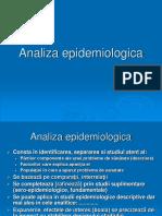 5analiza Epidemiologica Si Evaluarea Epidemiologica