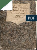 Manuscrito enciclopédico con dibujos médicos y alegóricos