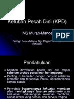 Ketuban Pecah Dini (KPD)