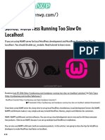 Solved_ WordPress Running Too Slow on Localhost _ JustLearnWP