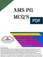 SAMS PG MCQ's