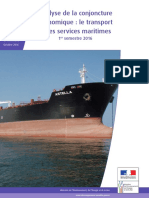 Analyse de La Conjoncture Eco Le Transport Et Les Services Maritime