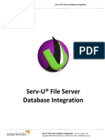 Serv-U DB Integration Guide