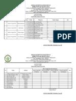 Daftar Hadir Pengawas Unbk