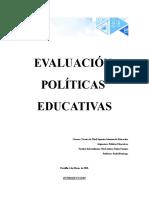 Evaluación Unidad 3 Políticas Educativas