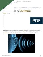 ¿Qué es Acústica_ - Su Definición, Concepto y Significado