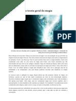 Resenha e debates:Esboço de Uma Teoria Geral Da Magia