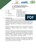 PLAN DE TRABAJO DEL AULA DE  INNOVACIÓN PEDAGÓGICA