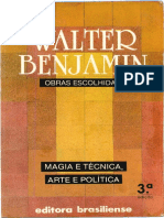 BENJAMIN, W. Obras Escolhidas, Vol. 1 - Magia e Técnica, Arte e Política