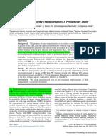 Quality of Life After Kidney Transplantation%2c a Prospective Study