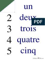 Affiches nombres en lettres 1 à 20 CP