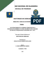 """""""Actividad Minera de La Empresa Yanacocha en La Provincia de Cajamarca y El Nivel de Impacto en l"""