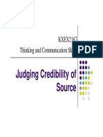 Notes- Judging Credibility of Source