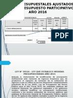 Reduccion de Marco Del Presupuesto Institucional 2015