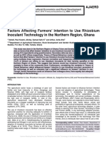Factors Affecting Farmers' Intention to Use Rhizobium Inoculant Technology in the Northern Region, Ghana