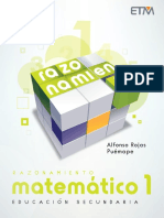Razonamiento Matemático 1 Secundario - ETM