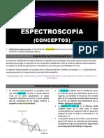 Espectroscopía (conceptos generales)