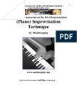 Improvisation Jazz Music Theory Harmony Piano Techniques Chords Scales
